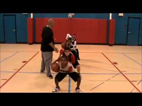 BTG Youth Basketball Drills #1.  Triple threat, crossover, pivots, ball handling circles