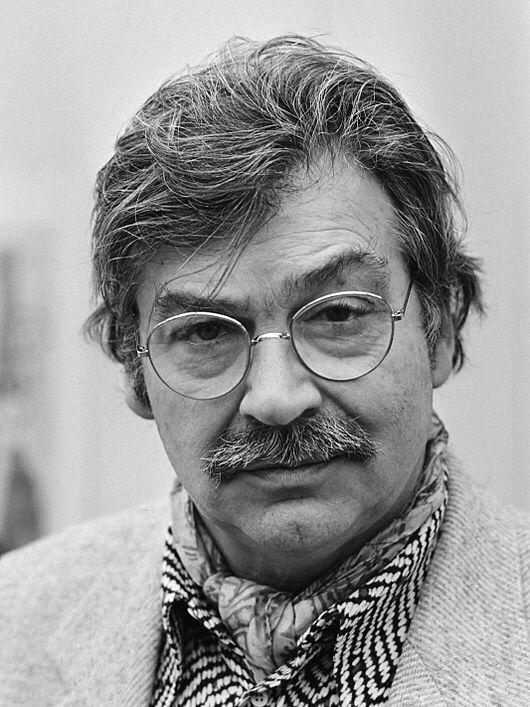Karel Appel, Dutch painter, sculptor, Poet, COBRA movement, 1921- 2008.