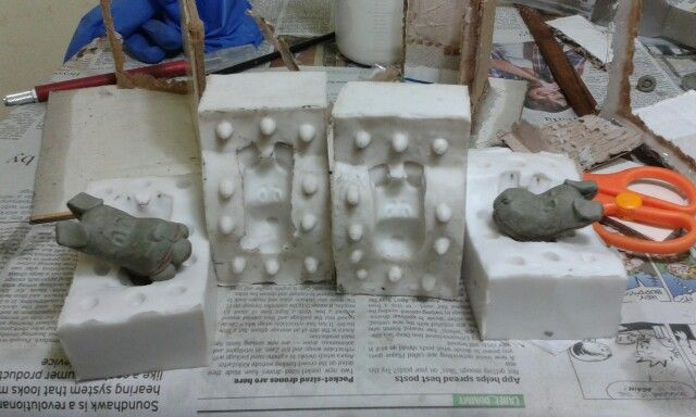 Molds for the heads are done!