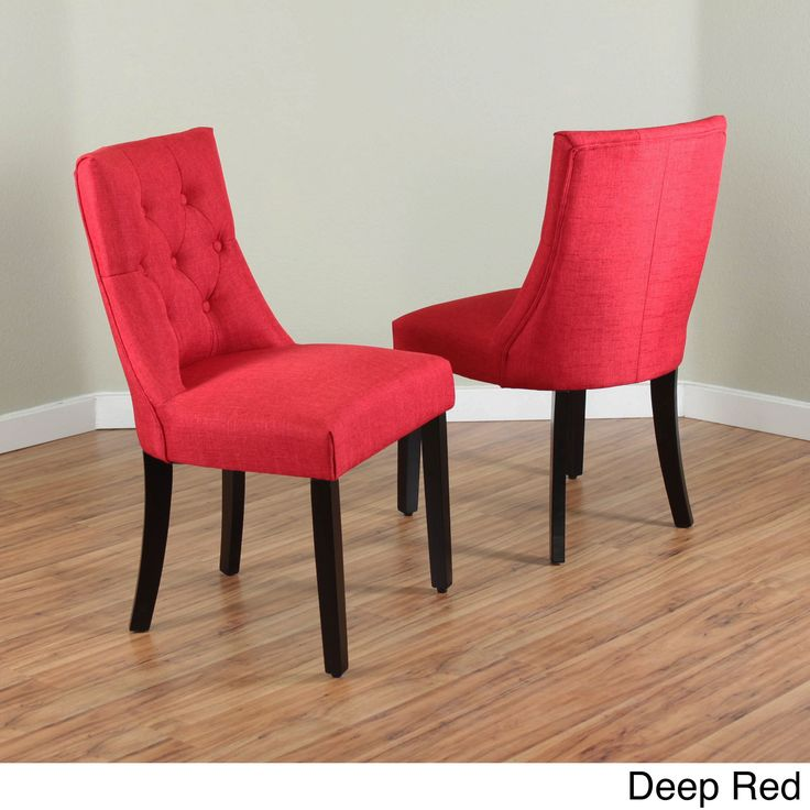 Monsoon Bellcrest Upholstered Dining Chairs (Set Of 2) (Bellcrest Deep Red  Dining Chairs