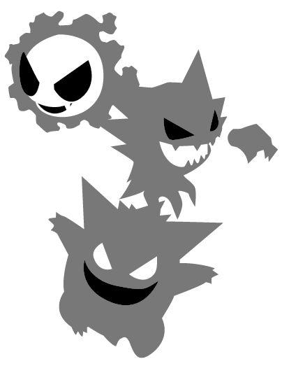 Pokemon - Gastly Evolution - Pumpkin Stencil by frisbii on deviantART