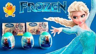 FROZEN huevos & sobres sorpresa * FROZEN surprise eggs and bags JUEGA CON EL PATO * Juguetes, Play-Doh, Huevos Kinder Sorpresa - YouTube