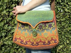 Ravelry: Kauni Damask Understated Bag pattern by Karen Stelzer