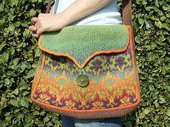 Ravelry: Kauni Damask Understated Bag pattern by Karen Stelzer