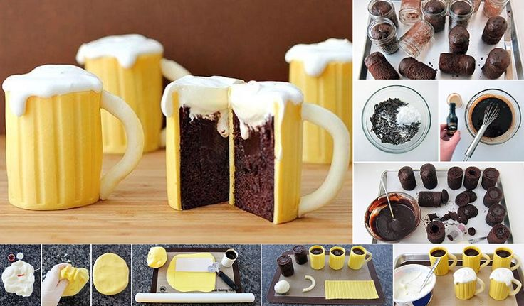 Spoil your guests with these amazing beer mug cupcakes. They look as good as they taste and they are filled with delicious Bailey's Irish Cream. You will find the list of ingredients down below. Cake ingredients: 3 eggs, 1/2 cup vegetable oil, water and 1 box of Betty Crocker Triple Chocolate Fudge cake mix. Chocolate …