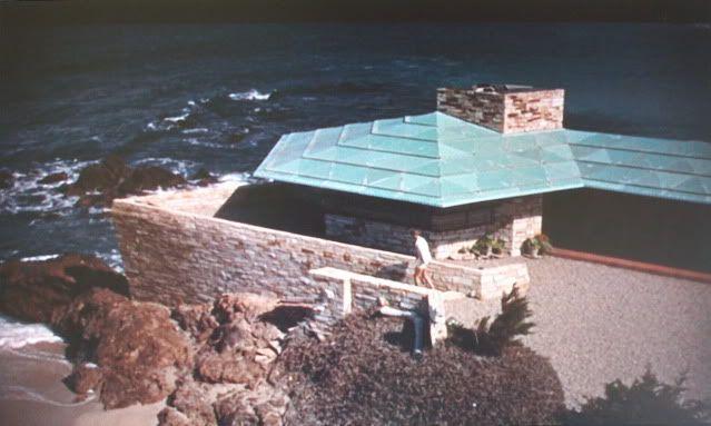 Aerial View Of Walker House Enameled Steel Roof Filmed In