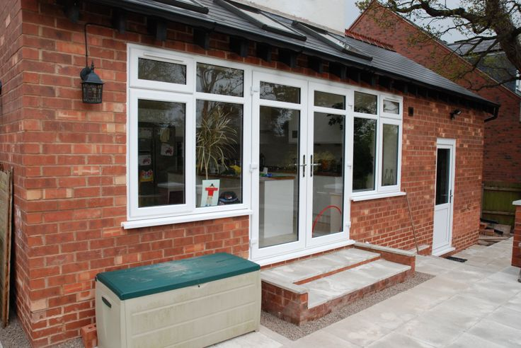 The major benefit of a French door is that its design allows for an extremely wide open walk through space. http://www.finesse-windows.co.uk/french_doors.php
