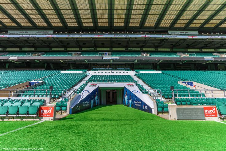 The West Stand and Players Tunnel at Twickenham Stadium   Photo Credit: Martin James