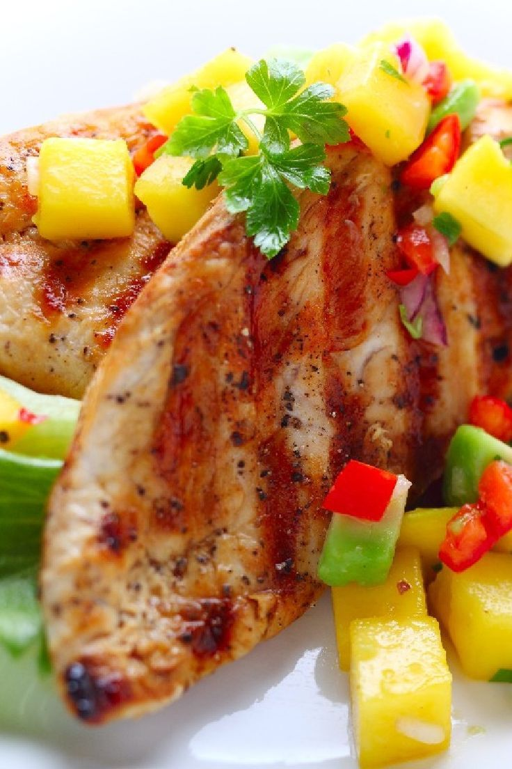Caribbean Chicken With Pineapple Salsa Recipe — Dishmaps