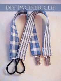 DIY - Pacifier Clip. Simple baby shower gift craft