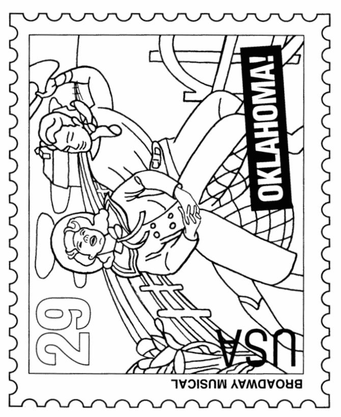 Arts Postage Stamp Coloring Pages