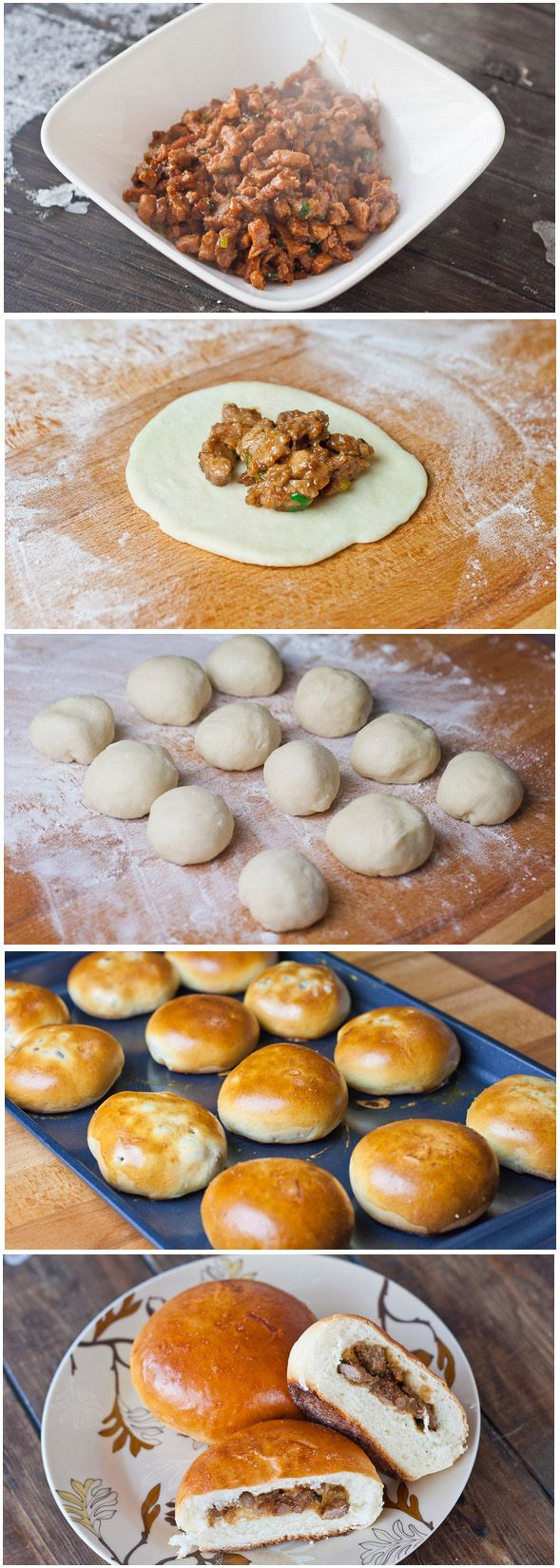 Chinese Style Meat Buns | Homemade Food Recipes