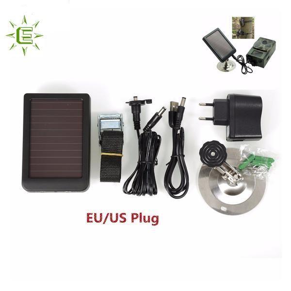 Trail Camera Solar Battery Charger HuntingGameCamerawithasolarpanelisthenextbestthingforrecordingwildlifeandnatureduetothesolarpanelconsta