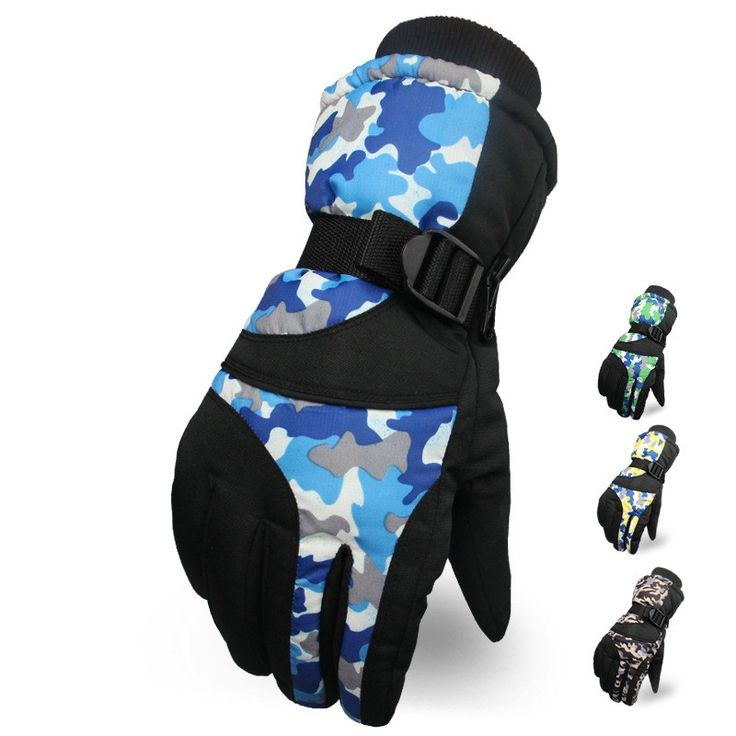 Camouflage Men Snow Gloves Thermal -30 Degree gants moto Gloves Waterproof Windproof Male Ski Gloves guantes ciclismo