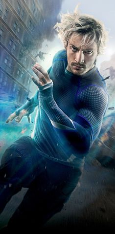 Avengers: Age of Ultron textless Quicksilver character poster.