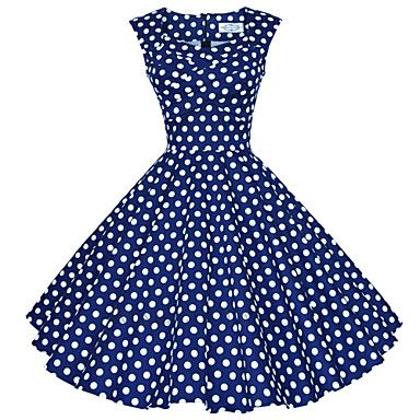 Maggie+Tang+Women's+50s+VTG+Retro+Polka+Dot+Rockabilly+Hepburn+Pinup+Business+Swing+Dress+567+–+AUD+$+41.46