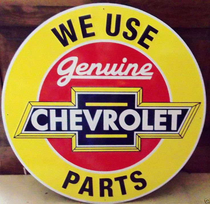 "24"" We Use Genuine Chevrolet Parts Metal Sign Advertising Chev Auto Parts Sign"
