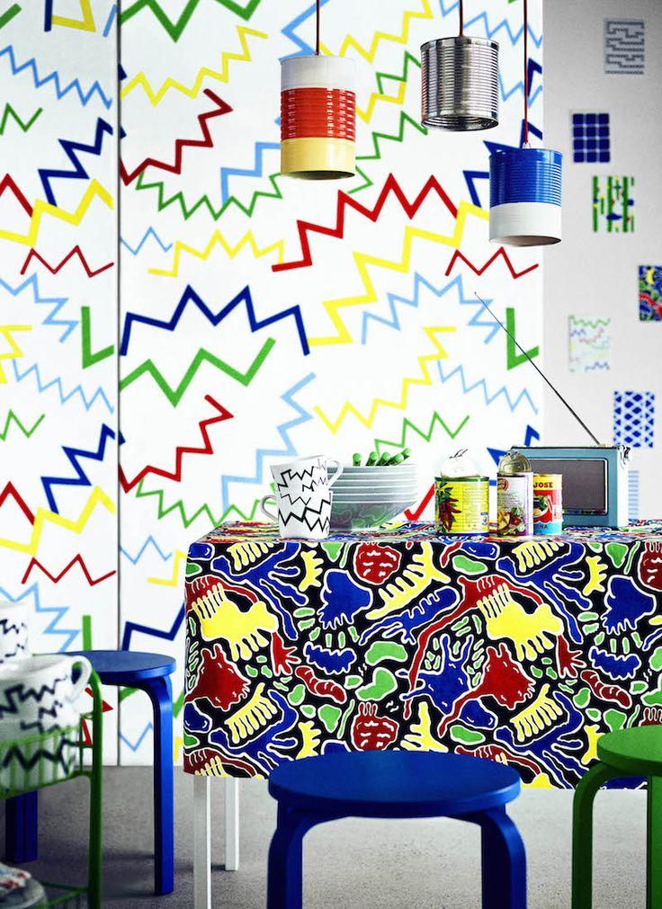 IKEA Avsiktlig limited collectie met kleurrijke Jazz print #ikea