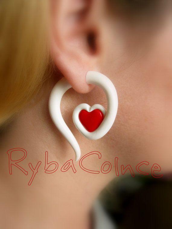 Jauge d'oreille boucles d'oreilles Faux gauge/jauge par RybaColnce