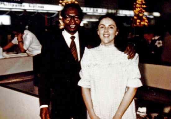 Barack Obama, Sr. and Ann Dunham.  Married on the Hawaiian island of Maui on February 2, 1961,