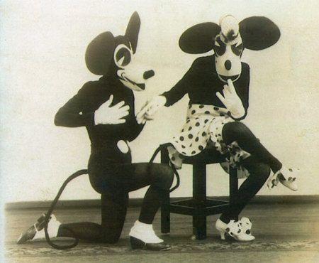 昔のミッキー&ミニー
