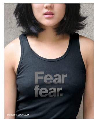 """Fear fear. A shirt I designed originally for Stephen Colbert's """"March to Keep Fear Alive."""" #colbert #t-shirt #fashion #comedy central #typography #design"""