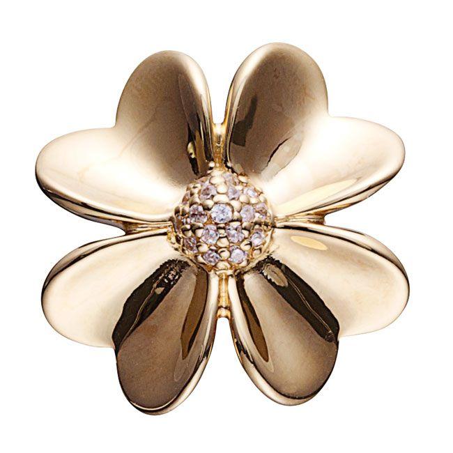 STORY by Kranz & Ziegler Gold Plated CZ Flower Charm