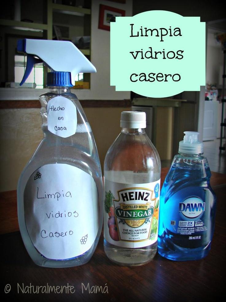 Limpia vidrios casero con ingredientes que tienes en tu cocina. Deja los vidrios y espejos relucientes #MuyLatinas #EcoMami #Ecologico