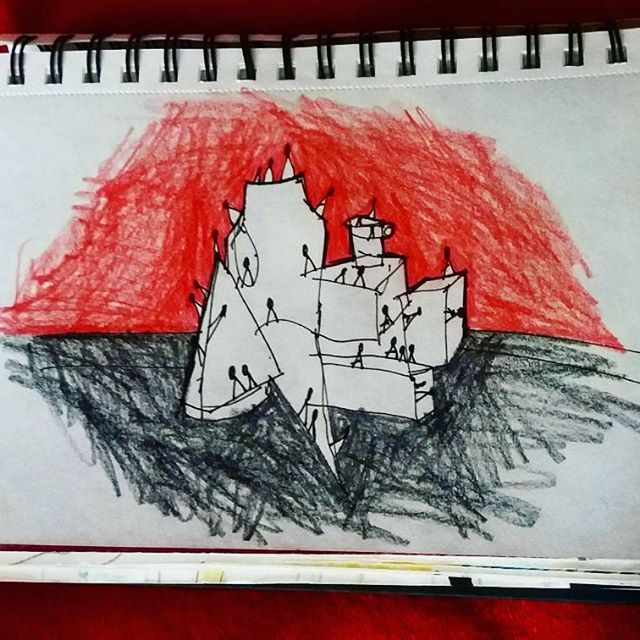 Sticky stick 😐🤐  #sketch #art #draw#drawing #artstagram #abstract #colorful #red #christmascolors #sketchoftheday #sketchbook #color #sketching #art🎨  #figure #arts_help #artwork #loveart #line #artlovers #instaart #illustration #art_community #pencil #creative #sketchoftheday #artstagram #abstractart