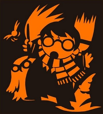 Harry Potter Pumpkin Carving Template - Maybe next year