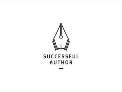 Successful Author logo design Simple Line Art Used in Logo Design | 25 Beautiful Examples