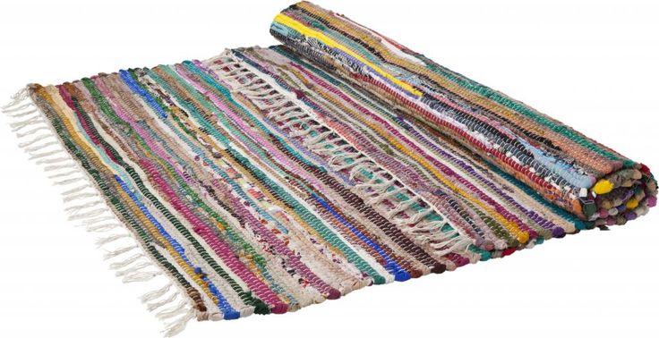 Storebror Vloerkleed ragrug katoen multicolour 90x175cm
