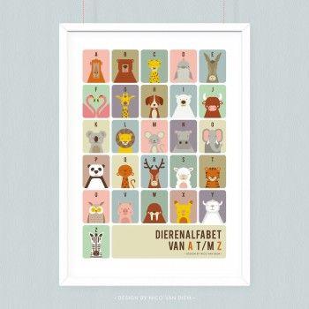 Poster Dierenalfabet