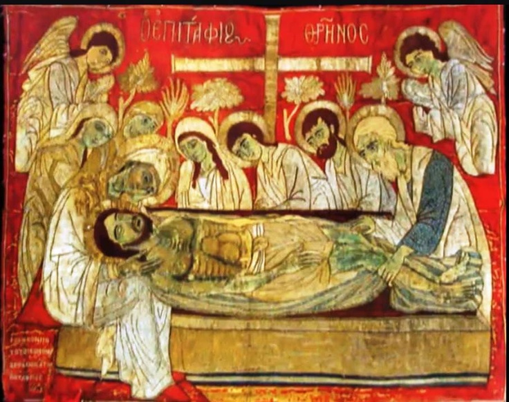 Lamentation by byzantine painters and jacob