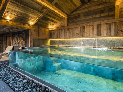 Jacuzzi Sauna Piscina.Chalet Des Envers Di Lusso A 5 350m2 200m Tracce Sauna