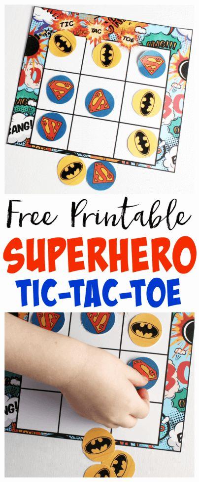 Superhero Tic Tac Toe Game