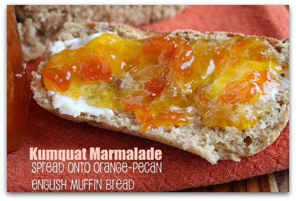 Kumquat marmalade...make in the microwave in 15 minutes. Easy & so tasty - hardest part is seeding the kumquats!