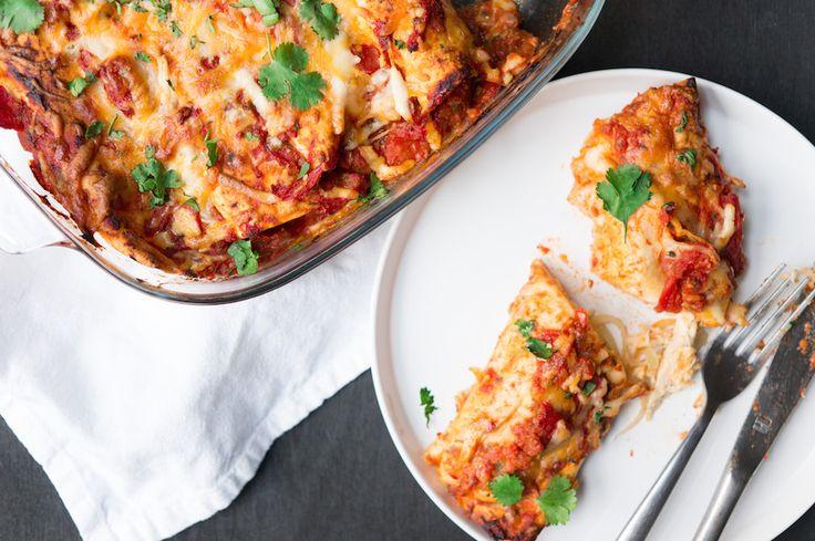 Culy Homemade: snelle enchiladas met kip in tomatensaus