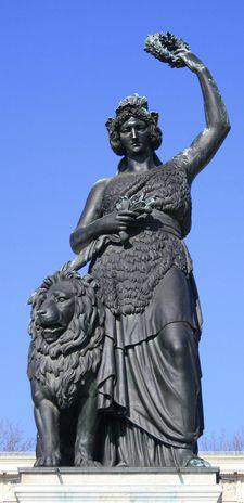 Bavaria Statue And Lion