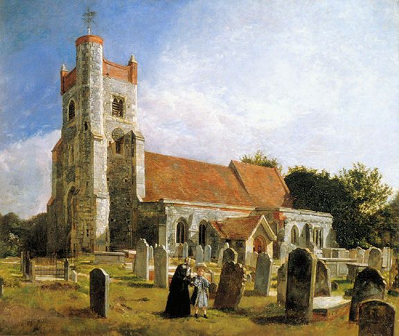 The Old Church, Ewell by William Holman Hunt 1847