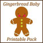 Gingerbread Baby Printables ~ preschool and kindergarten