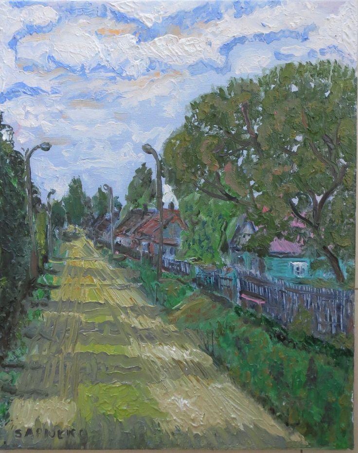 Marko Sapiołko oil 40x50 ''Wieś Grodzisk''