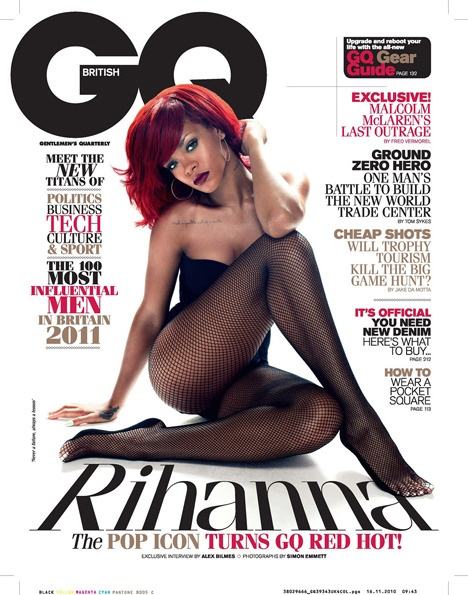 Rihanna on GQ, magazine cover, magazine, cover shot, photography,