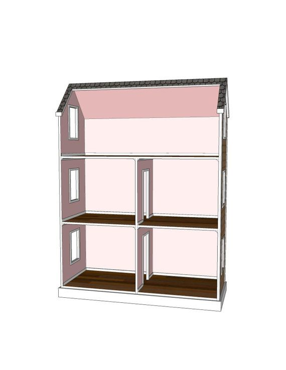 ideas about Doll House Plans on Pinterest   Doll Houses    Doll House Plans for American Girl or inch dolls   Room   NOT ACTUAL HOUSE