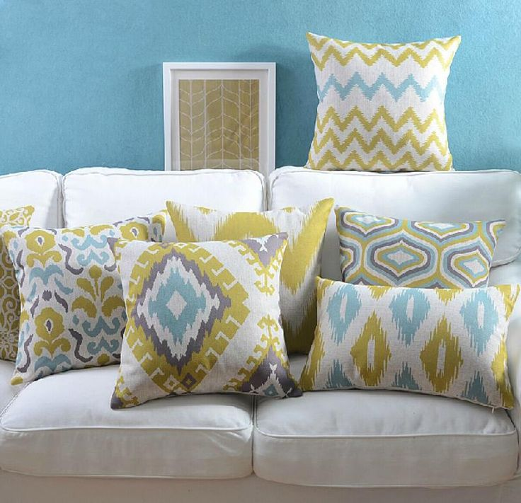 """18 """" quadrado geométrico abstrato de algodão de linho capa de almofada Ikea sofá cadeira carro casa decorativo jogar travesseiro fronha almofadas alishoppbrasil"""