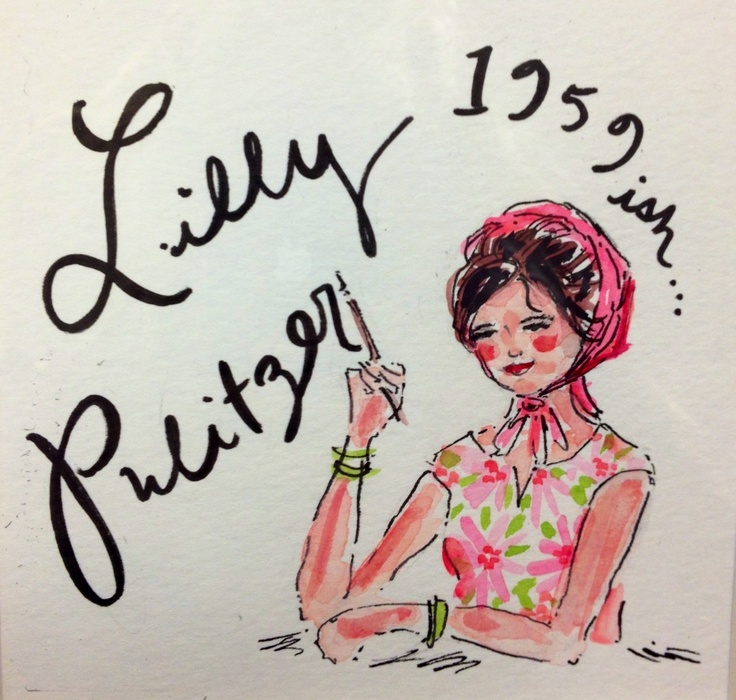 "1959ish- Lilly Pulitzer starts a juice stand in Palm Beach... and the ""Lilly"" takes off like zingo #lilly5x5 RIP Lilly"