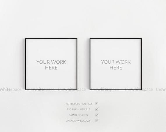Double Frame Mockup Two Frames Mockup Square Frame Mockup Thin Frame Mockup Modern Frame Mock Frame Mockup Free Psd Free Packaging Mockup Psd Mockup Template