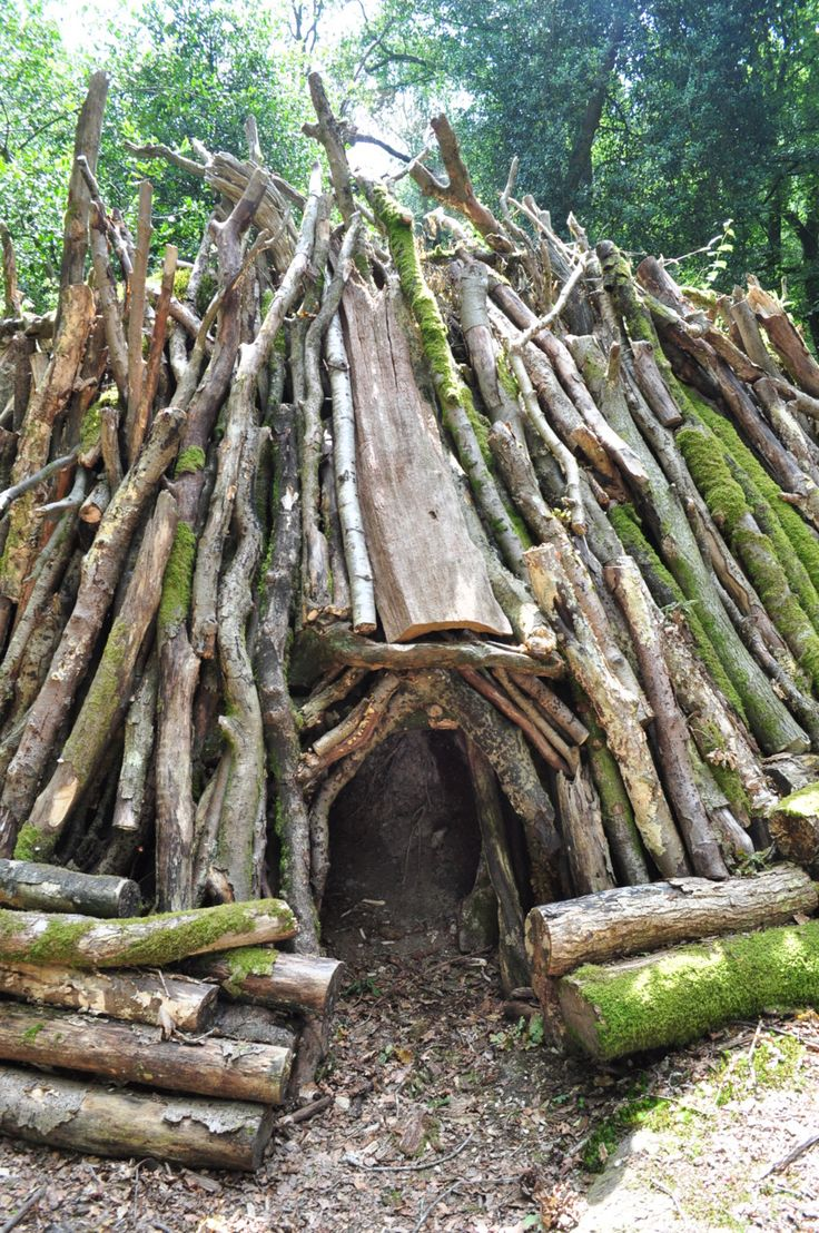 17 best images about survival shelters on pinterest for Homemade forts outdoors