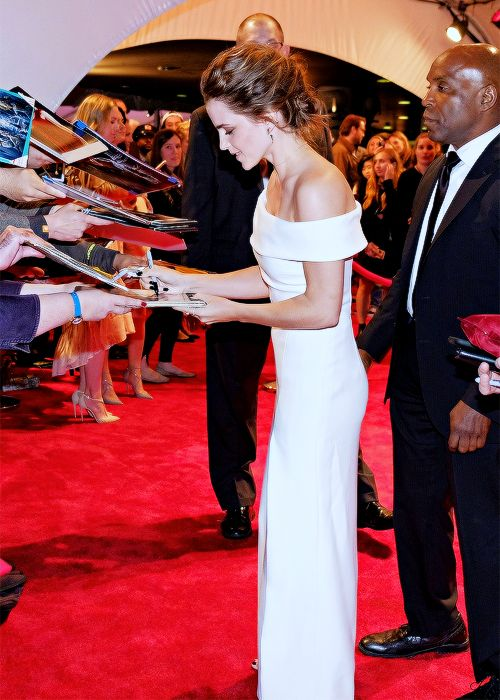 """ Emma Watson at the red carpet premiere launch of ""The Circle"" during the 2017 Tribeca Film Festival on Wednesday, April 26, 2017, in New York City. """