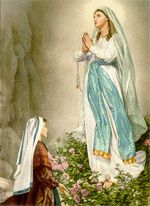 Feb. 11: On this day in 1858, Our Lady began appearing to a French peasant girl named Bernadette just four years after the dogmatic definition of Mary's Immaculate Conception. Our Lady of Lourdes, pray for us sinners!